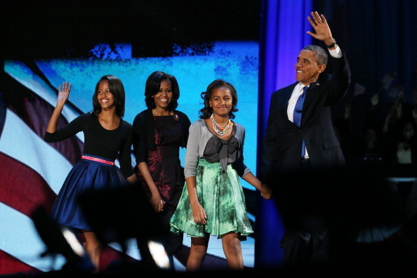Stunning Photos of Michelle Obama Wearing Michael Kors on Election Night 2012