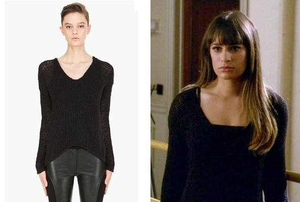 Lea Michele's Black Sweater on 'Glee'