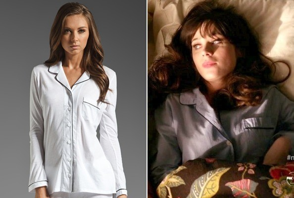 Zooey Deschanel's Piped Pajamas on 'New Girl'