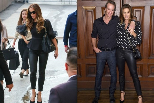 Kate Beckinsale and Cindy Crawford in L'Agence