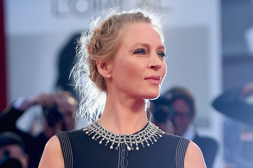 Hair Envy: Uma Thurman's Romantic Twisted Updo