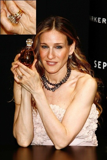 Sarah jessica parker celebrity engagement rings for Sarah jessica parker wedding ring