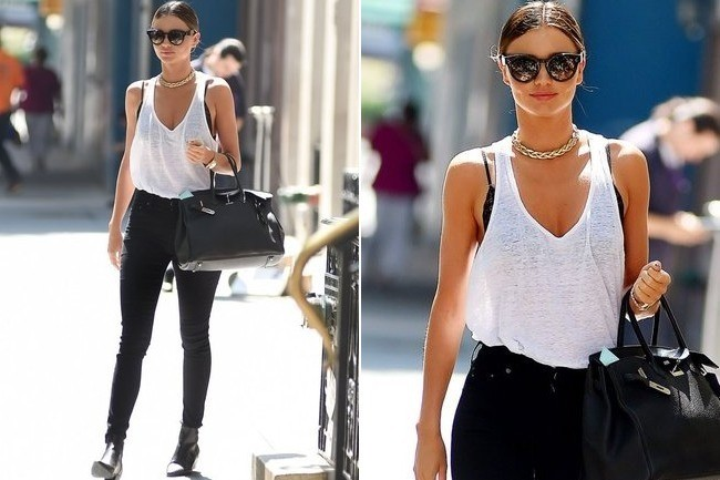 Miranda Kerr's Easy Chic Look