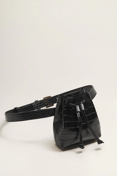 MANGO: Croc-Effect Belt Bag