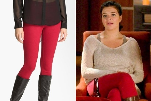Casey Wilson's Red Skinny Jeans on 'Happy Endings'