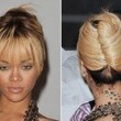 Rihanna's French Twist With Flirty Fringe