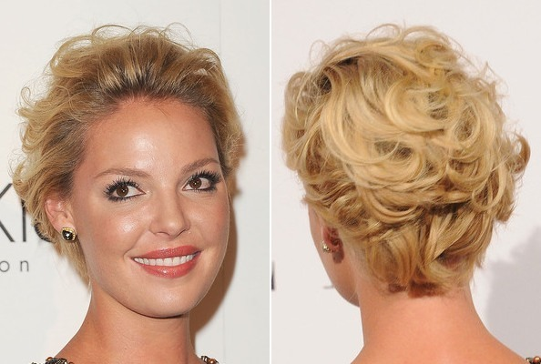 Katherine Heigl's Short and Curly 'Do
