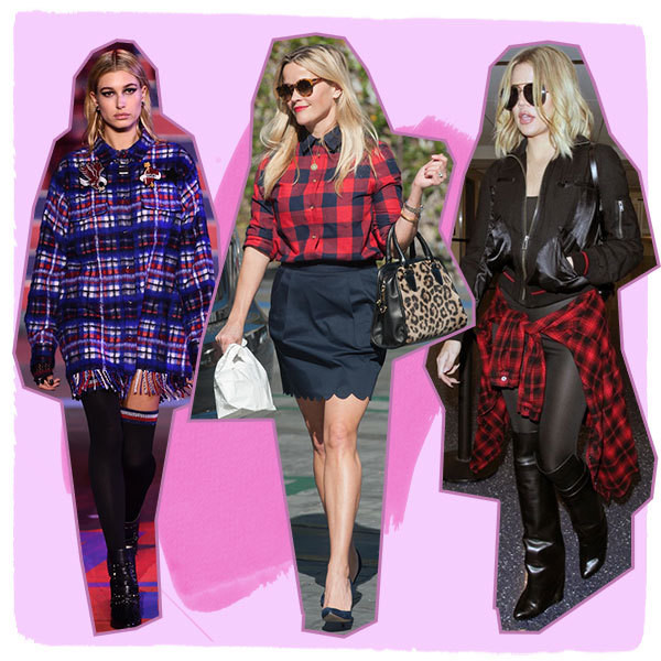 The Coolest Ways Celebs Style Plaid Shirts
