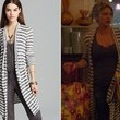 Jes Macallan's Long, Striped Cardigan on 'Mistresses'