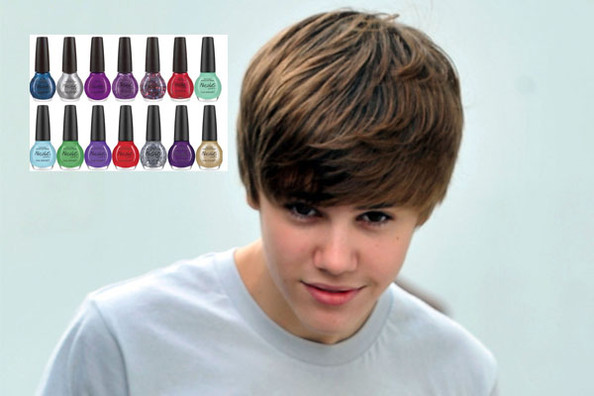 justin bieber nail polishes. Justin Bieber Rolls out Eight