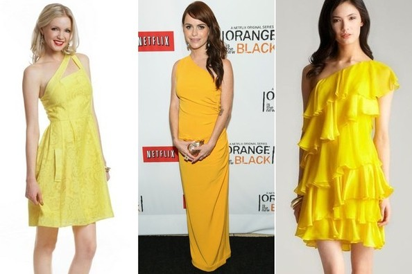 A Bold Yellow One-Shoulder Look Like Taryn Manning's