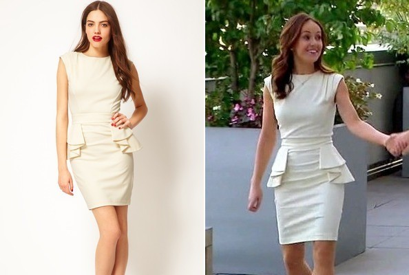 Ashley Hebert's Peplum Dress on 'The Bachelorette'