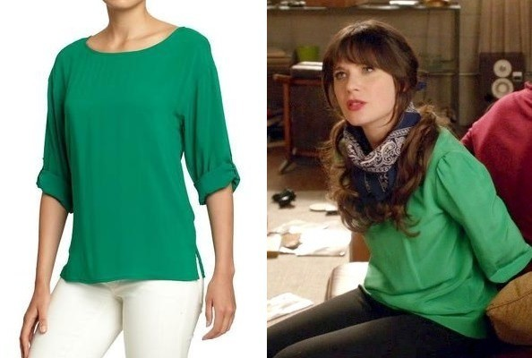 Zooey Deschanel's Green Blouse on 'New Girl'