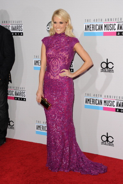 Carrie Underwood at the 2012 AMAs