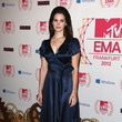 Stunning Photo of Lana Del Rey in a Retro-Inspired Blue Silk Wrap Dress