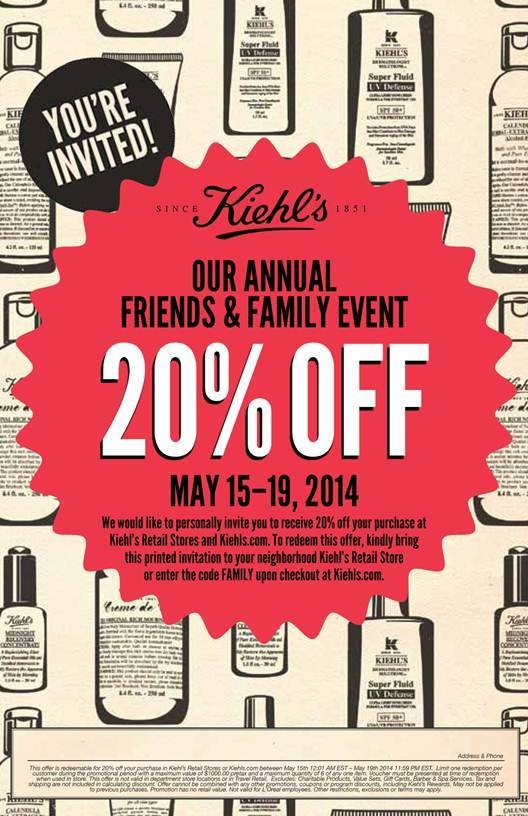 Daily Deal: Friends and Family Event at Kiehl's