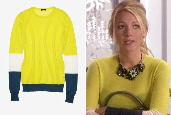 Blake Lively's Patchwork Sweater on 'Gossip Girl'