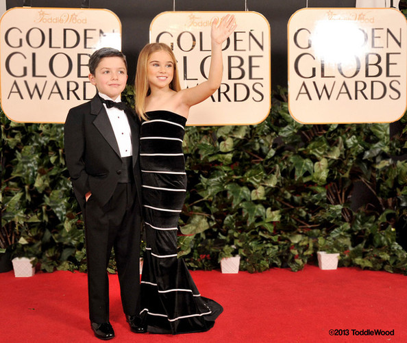 BEHOLD: Tiny Celebrity Impersonators Model Golden Globes Gowns