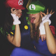 Kendall Jenner and Cara Delevingne as Mario and Luigi