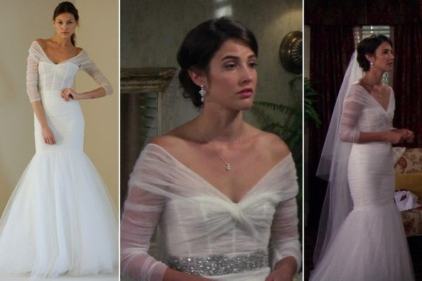 Cobie Smulders wedding dress