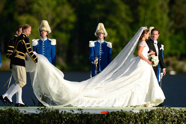 Princess Madeleine of Sweden's Valentino Wedding Gown Required Two Train Minions