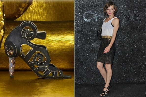 wBYX uV3mvCl Milla Jovovich Curls up in Chanel