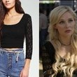 Clare Bowen's Cropped Lace Top on 'Nashville'
