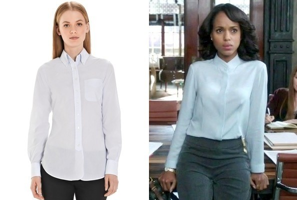 Kerry Washington's Light Blue Button-Down on 'Scandal'