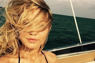 Gigi Hadid Goes Sailing