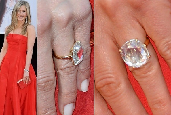 Jennifer aniston and justin theroux engagement ring