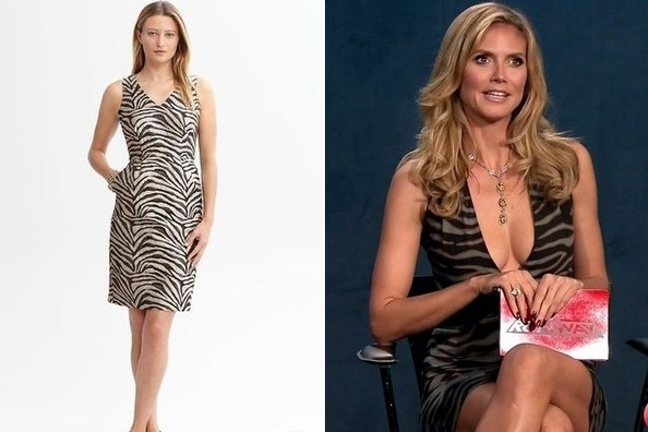 A Zebra-Print Dress Inspired by Heidi Klum's on 'Project Runway'