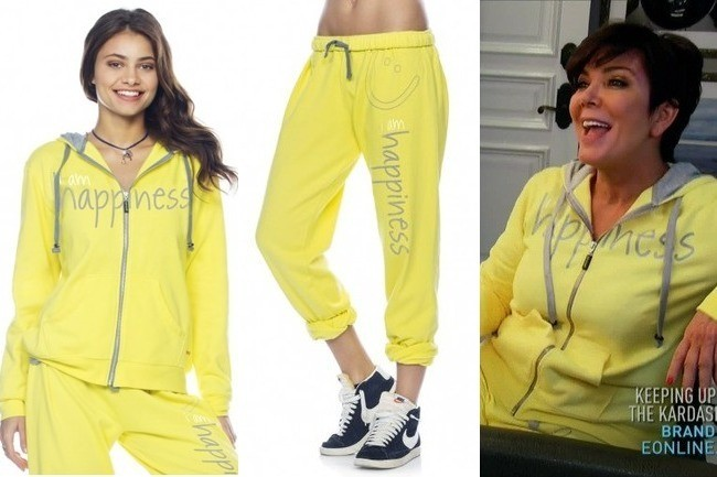 Kris Jenner's Yellow Sweat Suit on 'Keeping Up with the ...
