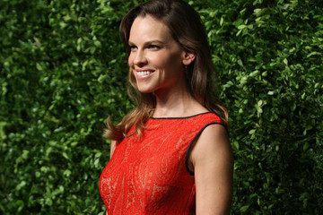 Hilary Swank Rocks Red in Shanghai