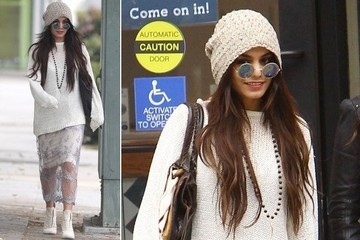 Vanessa Hudgens Shows Us How To Do Winter Boho