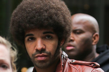 Drake Works an Afro on the 'Anchorman' Set, Hits the Studio with Jay-Z