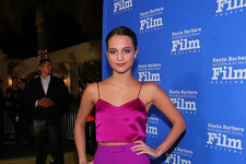 Look of the Day: Alicia Vikander's Fun in Fuchsia