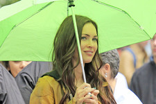 Megan Fox Braves the Rain in NYC