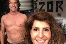 John Corbett Posed Half-Naked in This New 'My Big Fat Greek Wedding 2' Set Photo