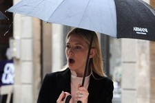 Cate Blanchett Has an Armani Umbrella