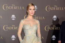 Lily James Sparkles at the 'Cinderella' Premiere
