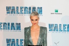 Look of the Day: Cara's Dazzling Frock