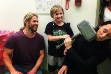 Thor and Loki Took a Break from Filming 'Thor: Ragnarok' to Make Some Kids Happy