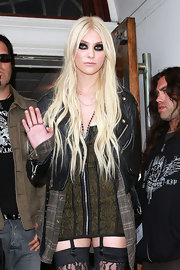 Taylor Momsen showed off her platinum blonde locks while making an appearance at Radio One studios.