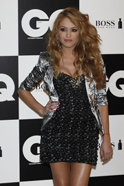 Paulina Rubio wore shiny opaque fuchsia nail polish at the 2011 'GQ' Men of the Year photocall.