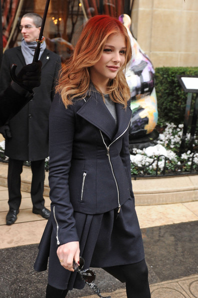 More Pics of Chloe Grace Moretz Zip-up Jacket (3 of 6) - Zip-up Jacket Lookbook - StyleBistro