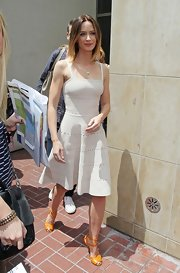 Emily Blunt's A-line dress had a fun and flirty vibe to it!