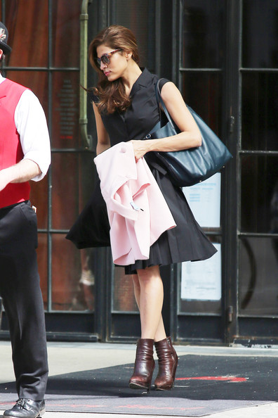 More Pics of Eva Mendes Shirtdress (1 of 5) - Eva Mendes Lookbook - StyleBistro