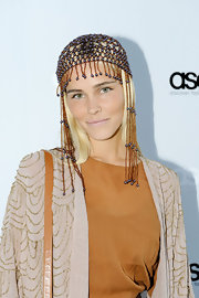 Isabel Lucas channeled Cleopatra at the ASOS launch in Sydney wearing a beaded head piece.