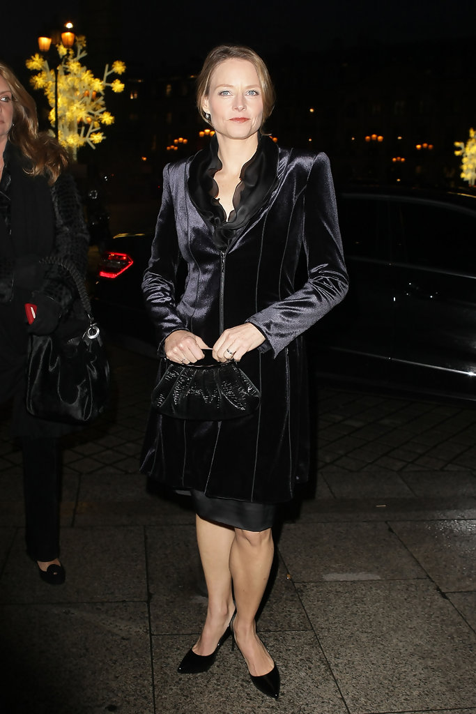 jodie foster at giorgio armani celebrity street style at