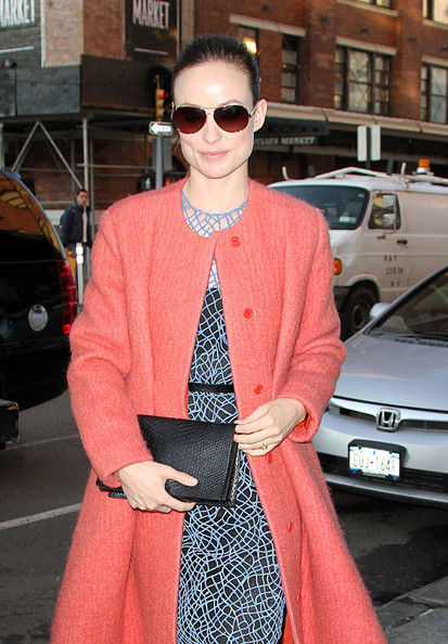 More Pics of Olivia Wilde Wool Coat (1 of 7) - Olivia Wilde Lookbook - StyleBistro